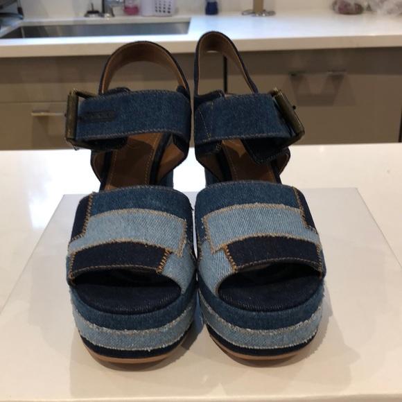 See By Chloe Shoes - See By Chloe Platform Jean Heels Size 37 1/2